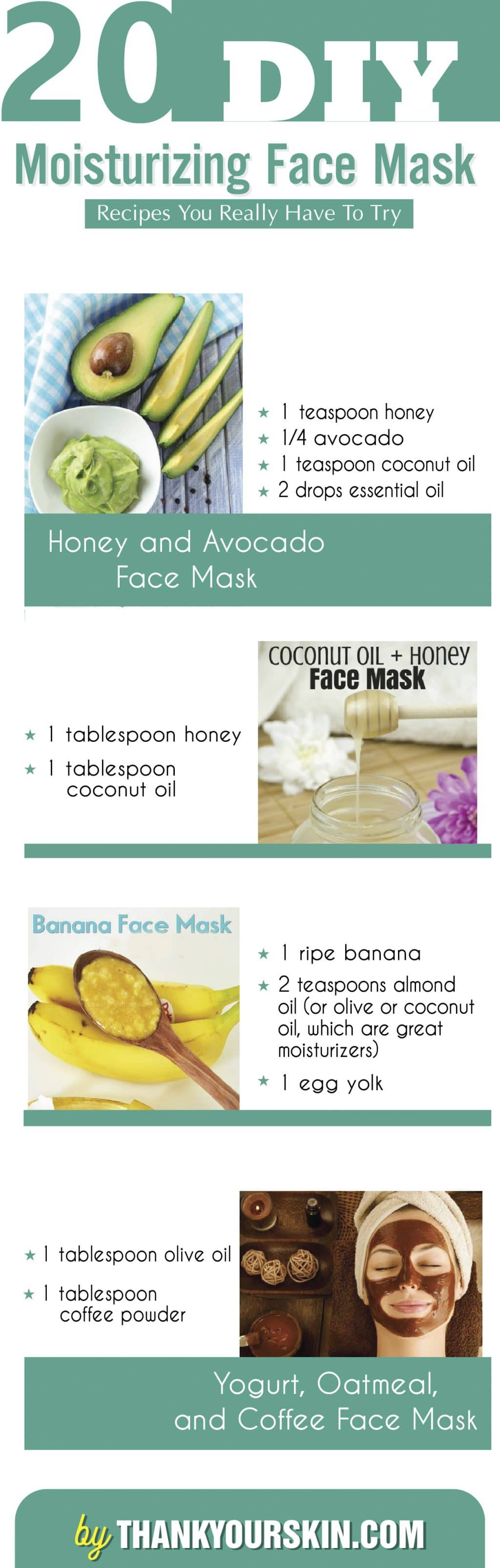 Moisturizing Face Mask DIY  20 DIY Moisturizing Face Mask Recipes You Really Have to Try