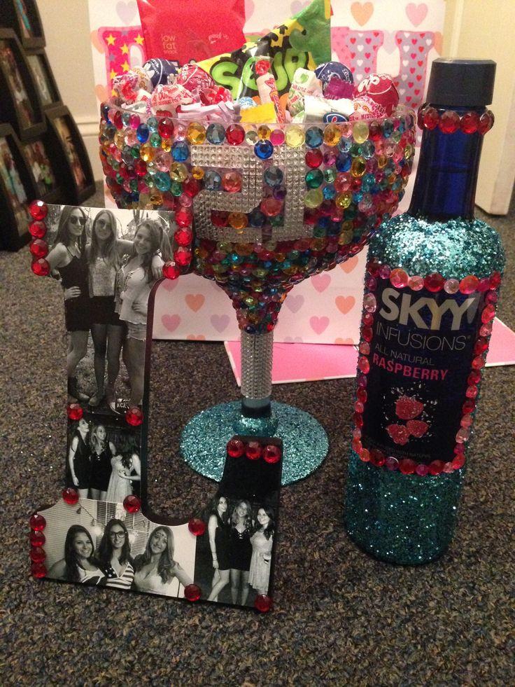 Mom'S Birthday Gift Ideas  DIY glitter and rhinestone 21st birthday t