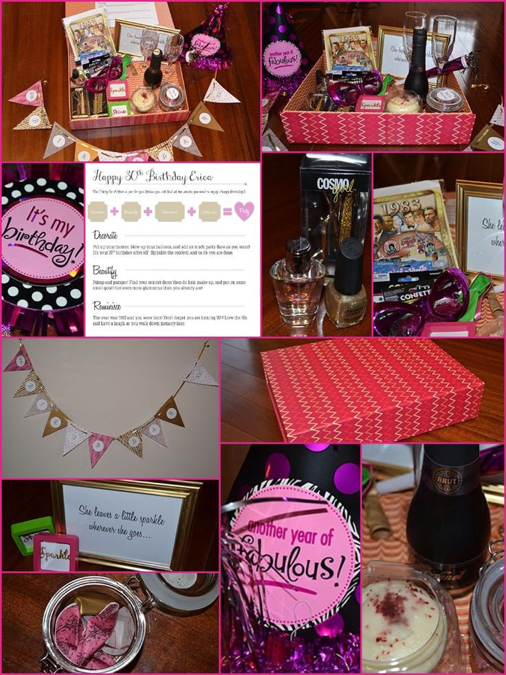 Mom'S Birthday Gift Ideas  Party in a box 30th birthday t idea for those far away