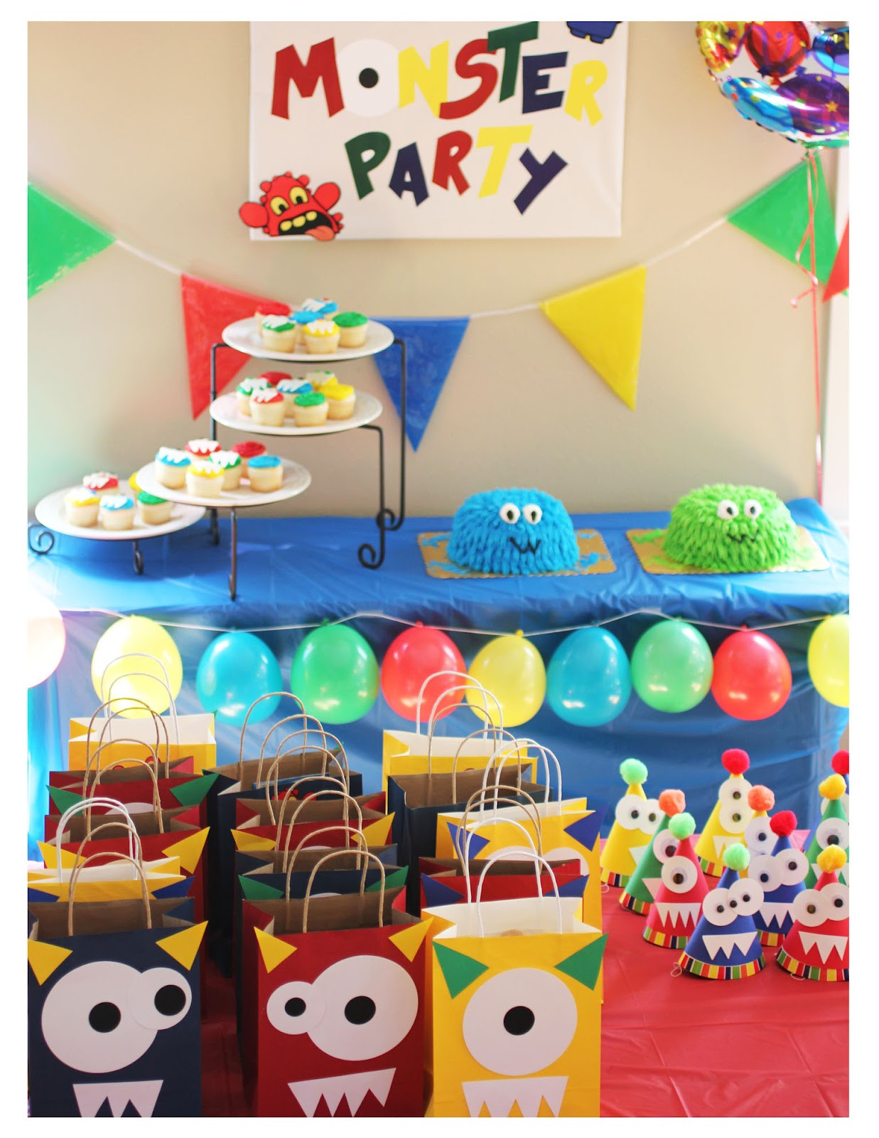 Monster Birthday Decorations  Monster Party Repeat Crafter Me
