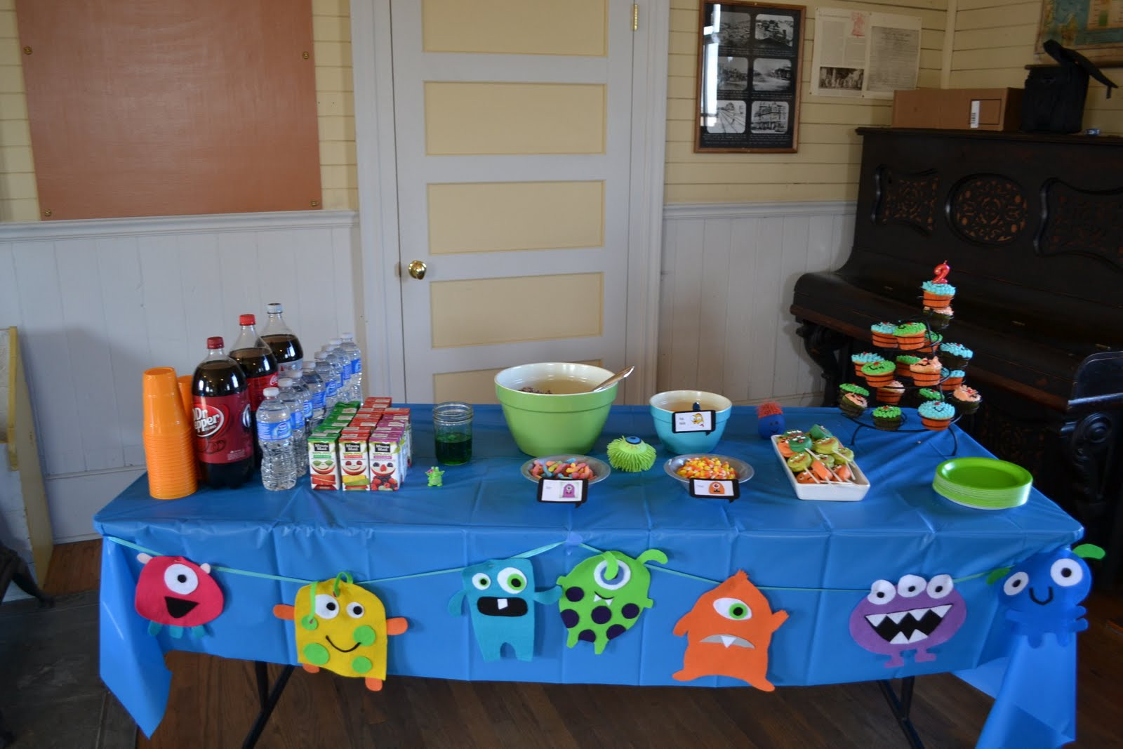 Monster Birthday Decorations  Nifty Thrifty & Thriving Monster Birthday Party