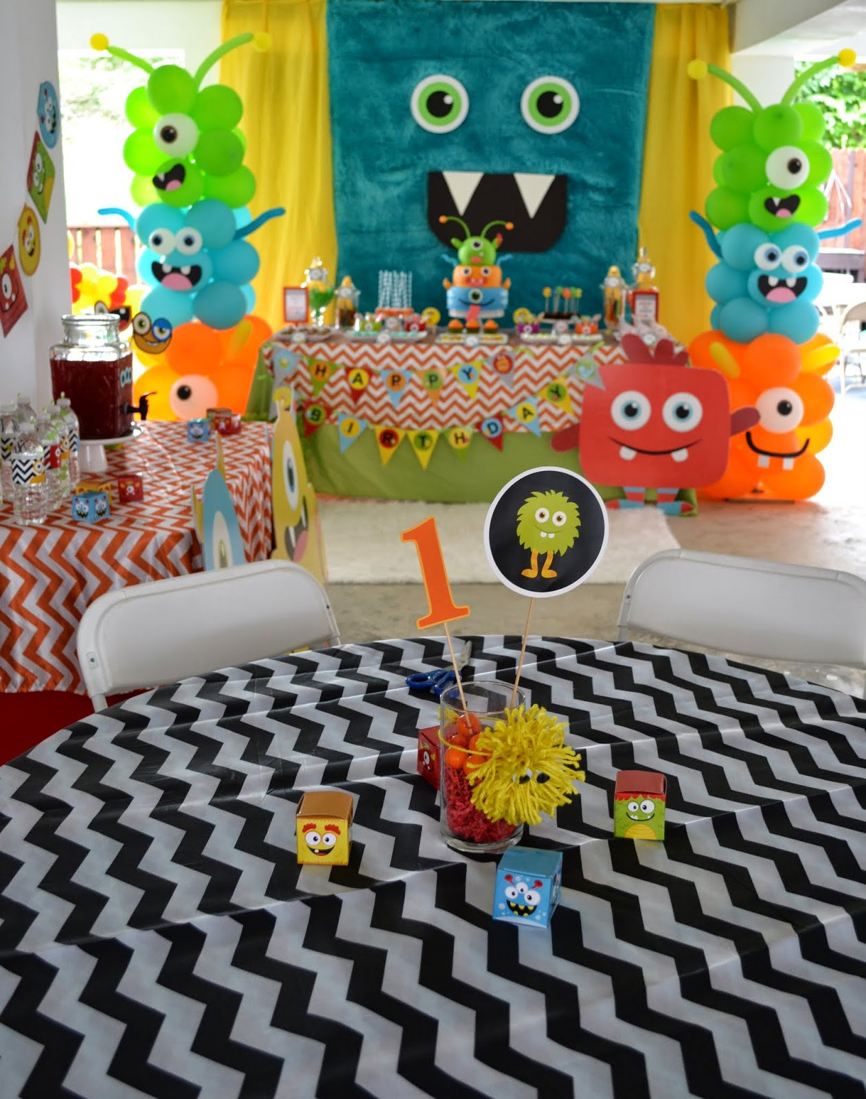Monster Birthday Decorations  Partylicious Events PR Little Monster Birthday Bash