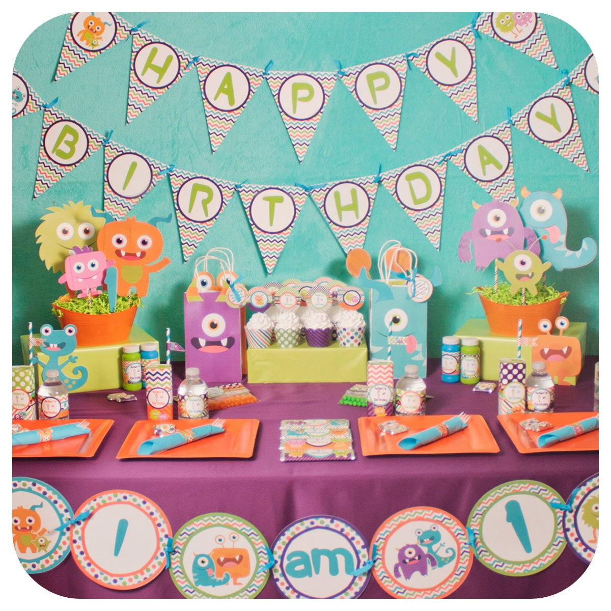 Monster Birthday Decorations  Little Monsters Little Monsters Party Monster Birthday