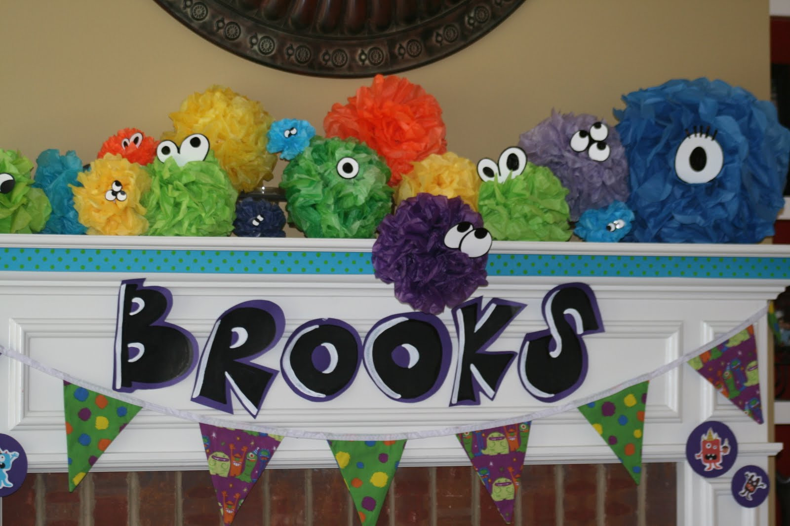 Monster Birthday Decorations  simple 2 silly Brooks 3rd Birthday Little Monster Theme