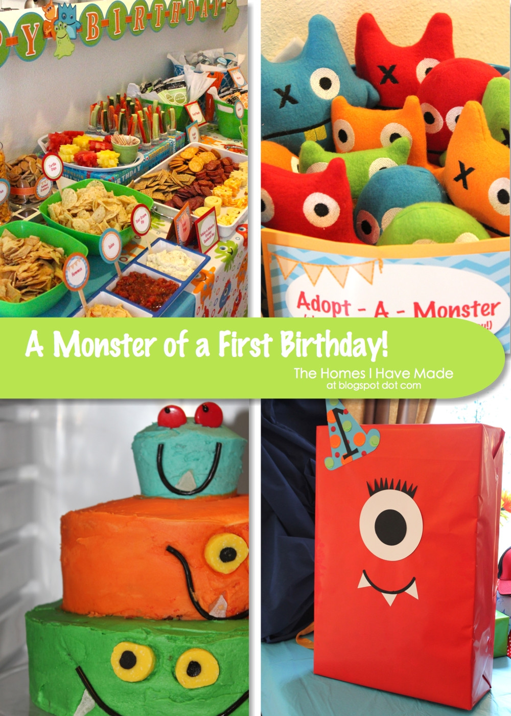Monster Birthday Decorations  A Monster of a First Birthday Party