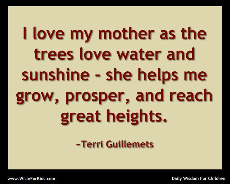 Mother And Childrens Quotes  Wisdom For Children