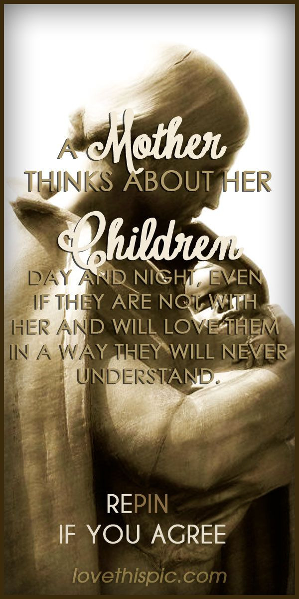 Mother And Childrens Quotes  A Mother s Love love quotes family quote sweet thoughts