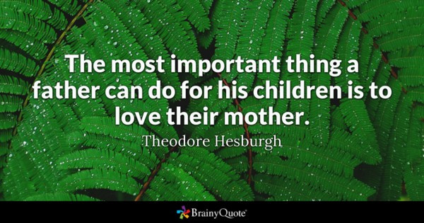 Mother And Childrens Quotes  The most important thing a father can do for his children