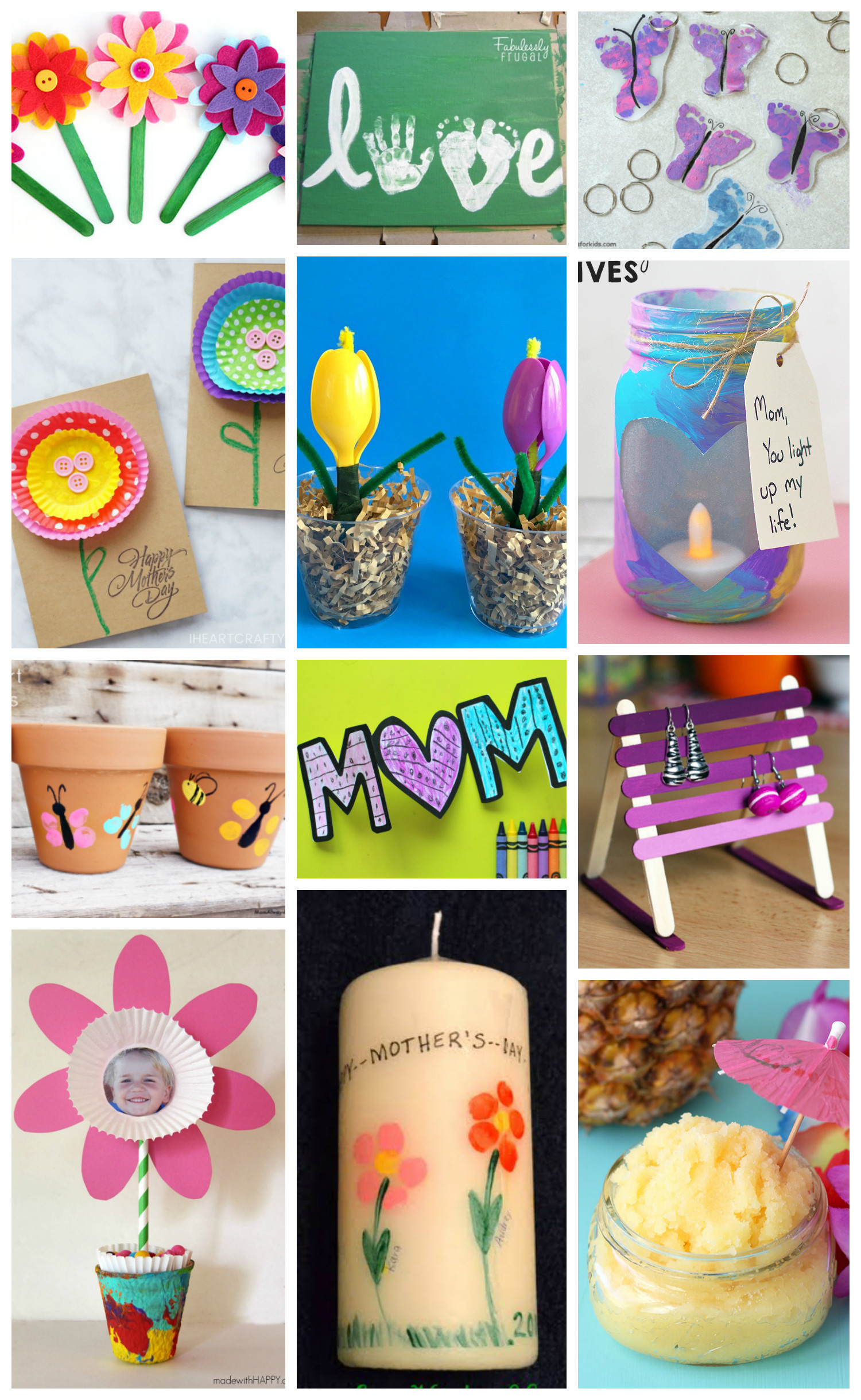 Mother Day Gift Ideas  Easy Mother s Day Crafts for Kids Happiness is Homemade