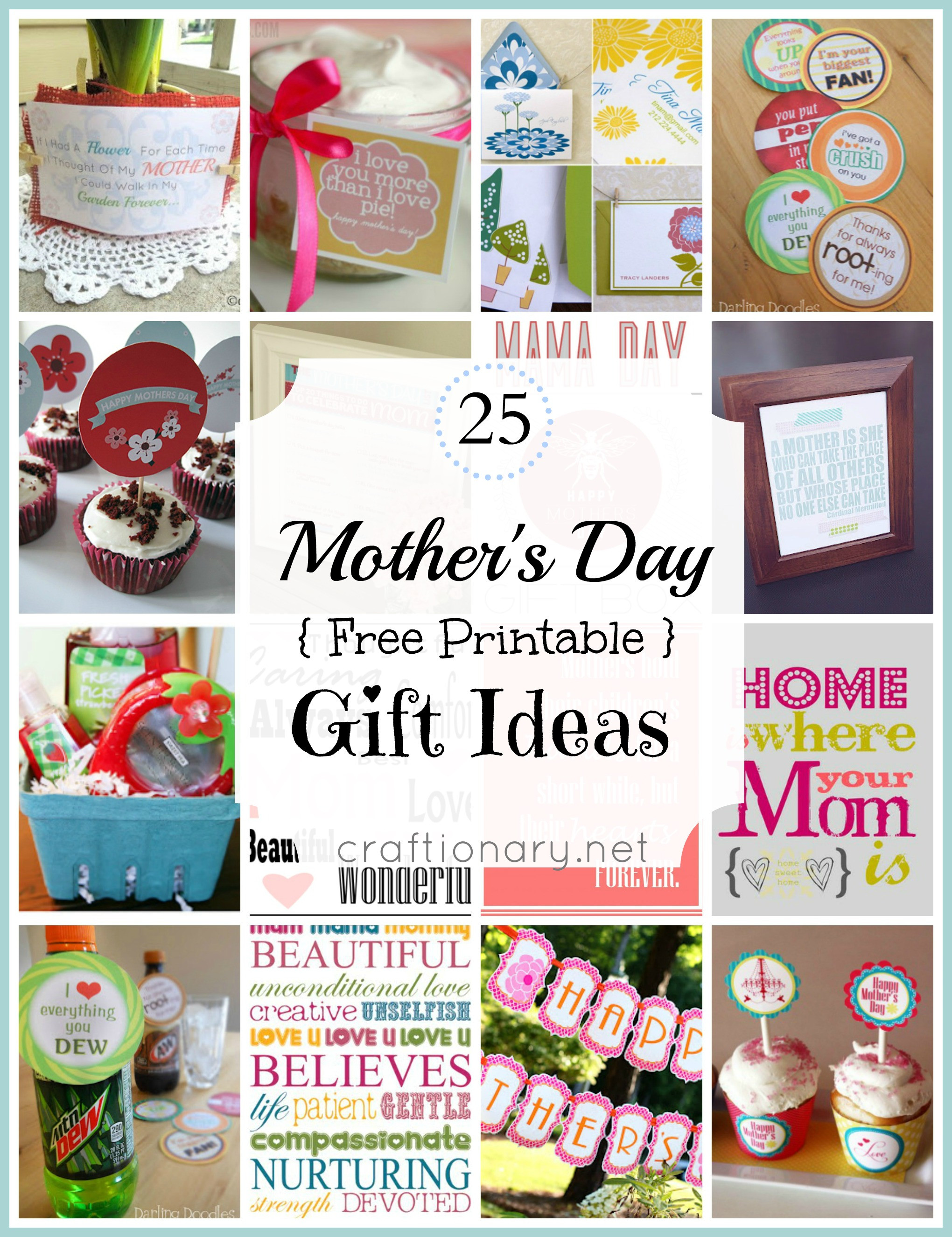 Mother Day Gift Ideas  Craftionary