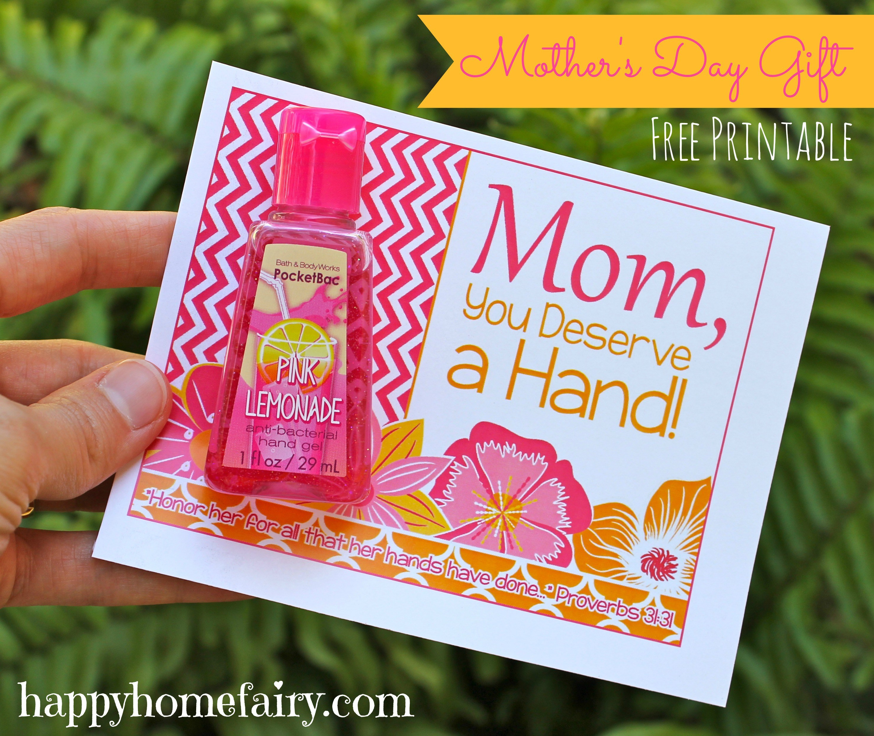 Mother Day Gift Ideas  Easy Mother s Day Gift Idea FREE Printable Happy Home