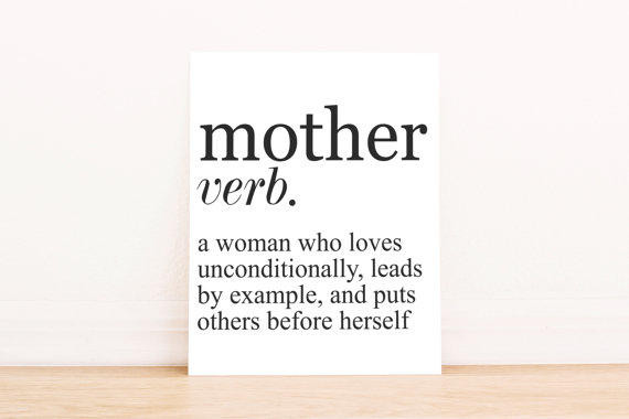 Mother Definition Quote  PRINTABLE Art Mother Definition Mothers from