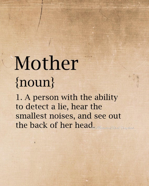 Mother Definition Quote  Items similar to Vintage Mother Dictionary meaning