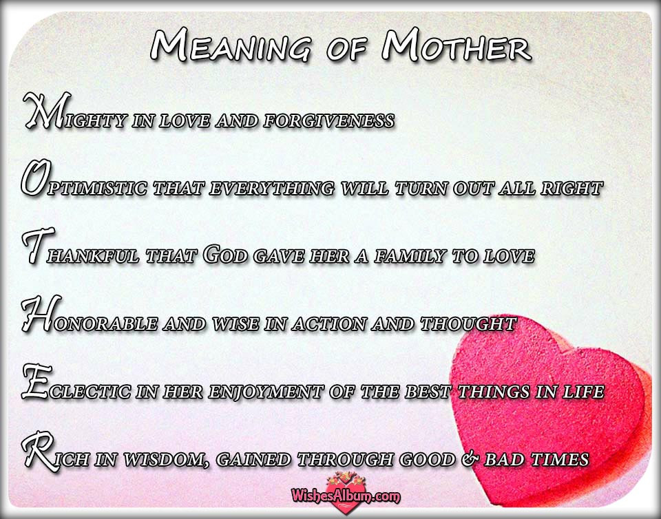 Mother Definition Quote  Mother s Day Card Messages and Wishes The Meaning Mother