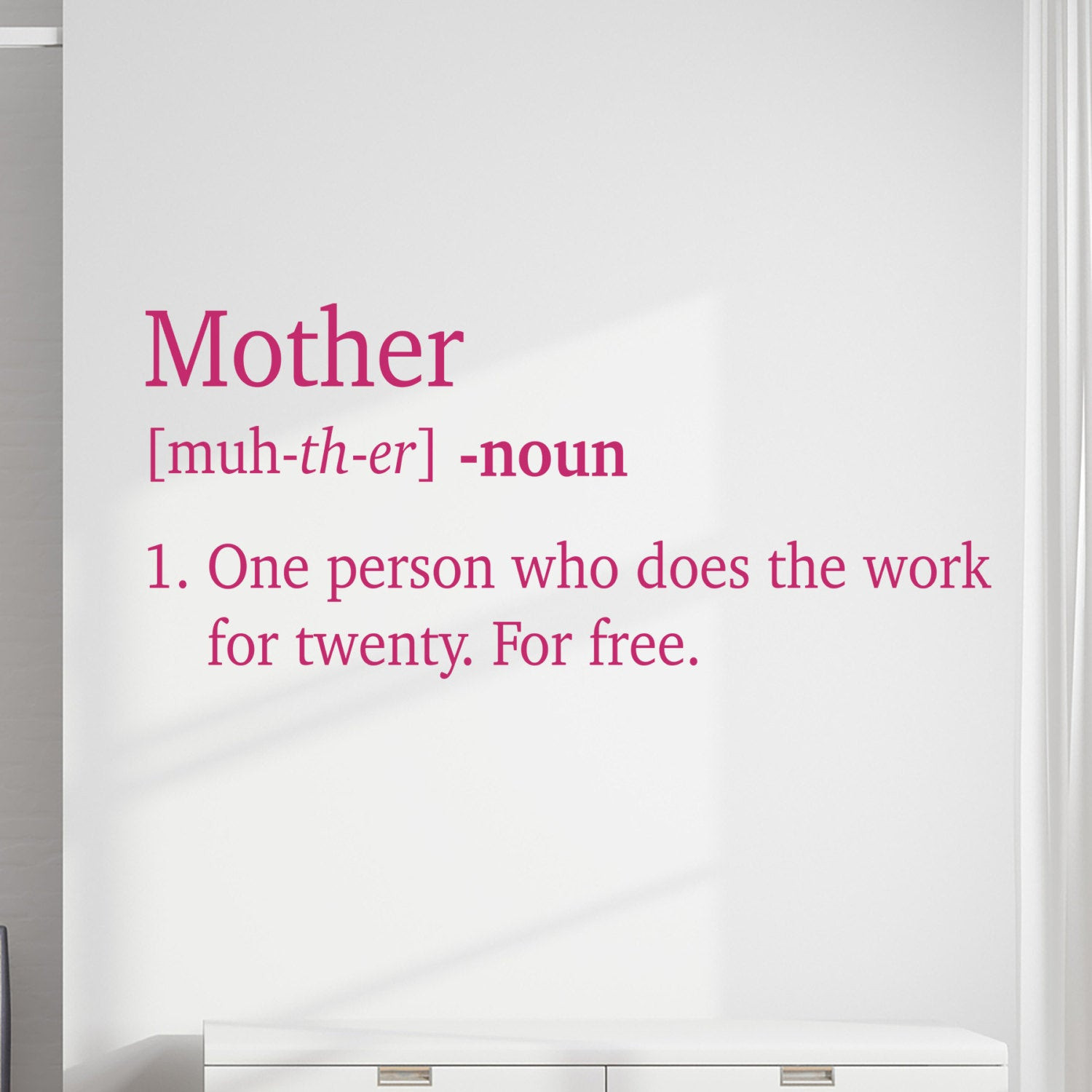 Mother Definition Quote  Mother Definition Vinyl Wall Decal Quote