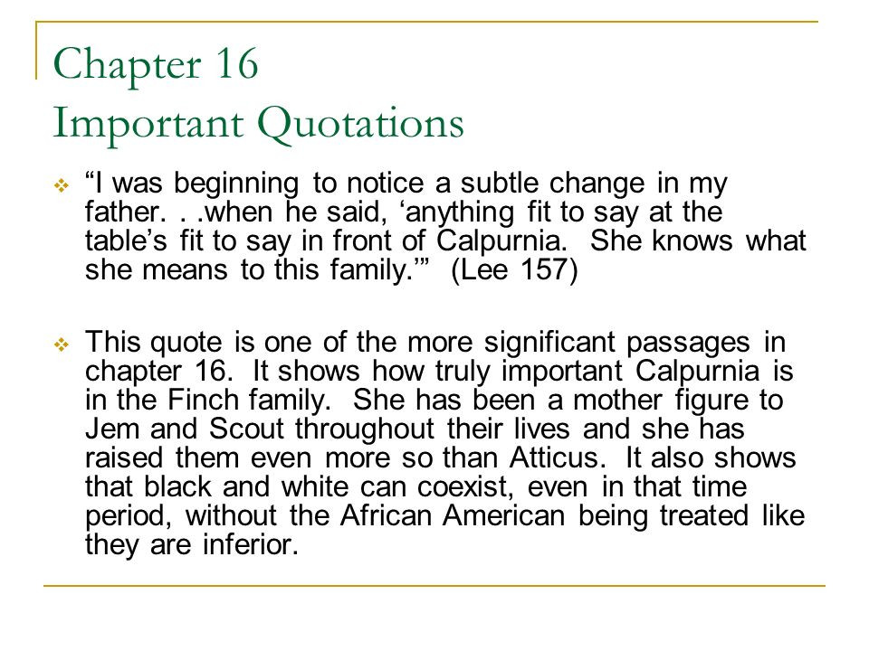 Mother Figure Quotes  An Introduction to Harper Lee's To Kill a Mockingbird