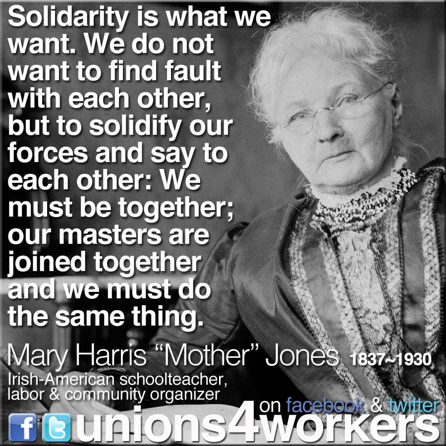 Mother Jones Quote  Women's History Month Honoring the Legacies of Mother
