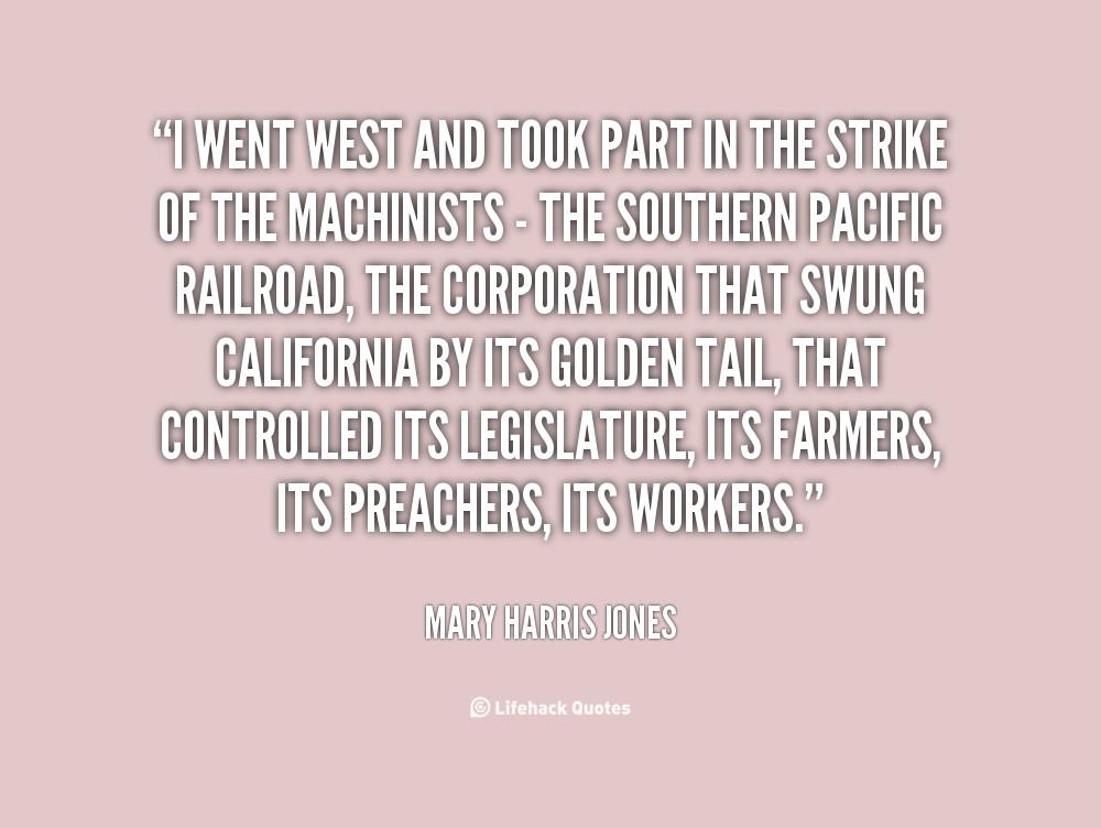 Mother Jones Quote  Mary Harris Jones Quotes QuotesGram