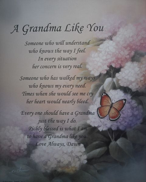 Mother'S Day Blessing Quotes  PERSONALIZED GRANDMA POEM LOVELY BIRTHDAY CHRISTMAS OR