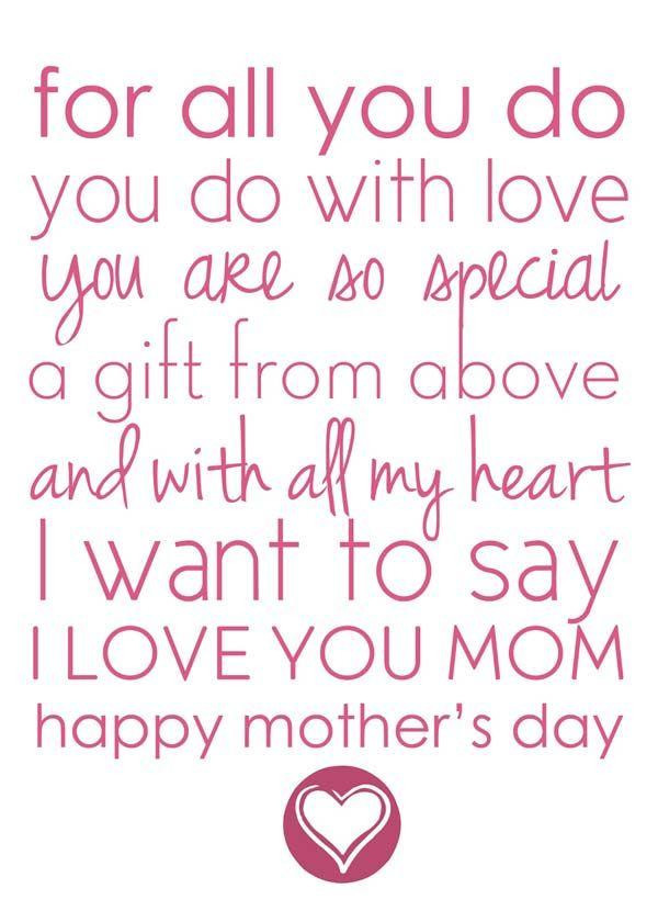 Mother'S Day Blessing Quotes  Mother s Day Poems for Kids