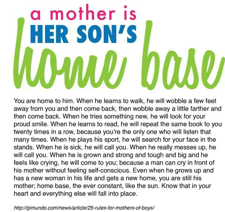 Mothers Quote To Her Son  A mother is her son s home base Mommy Things