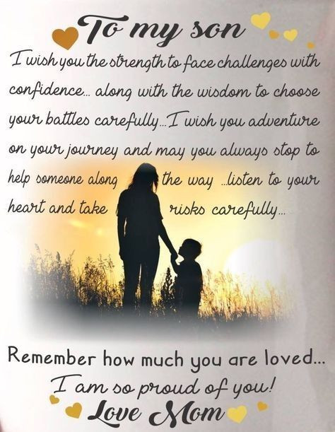 Mothers Quote To Her Son  Letter Parenting