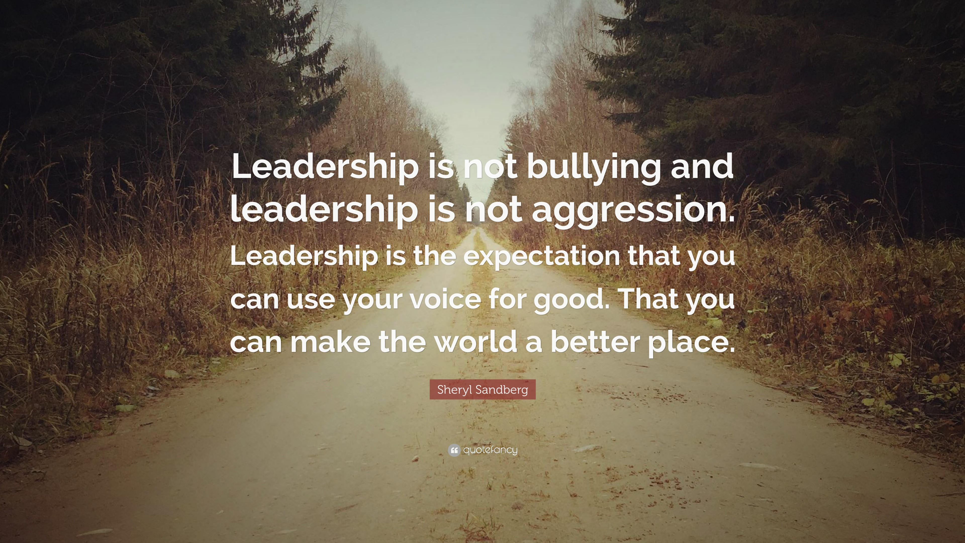 "Motivational Leadership Quotes  Sheryl Sandberg Quote ""Leadership is not bullying and"