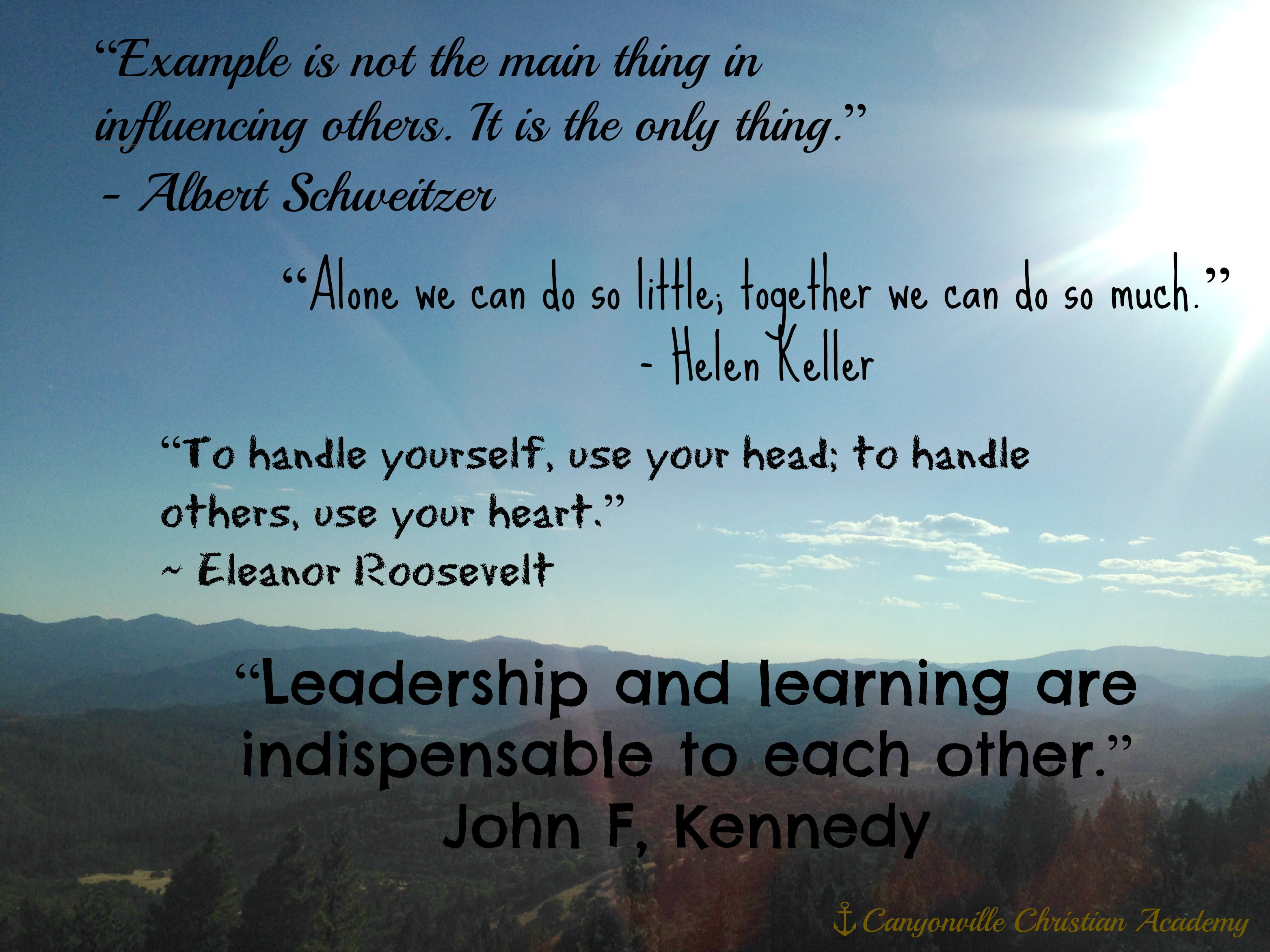 Motivational Leadership Quotes  Boarding School Inspirational Leadership Quotes