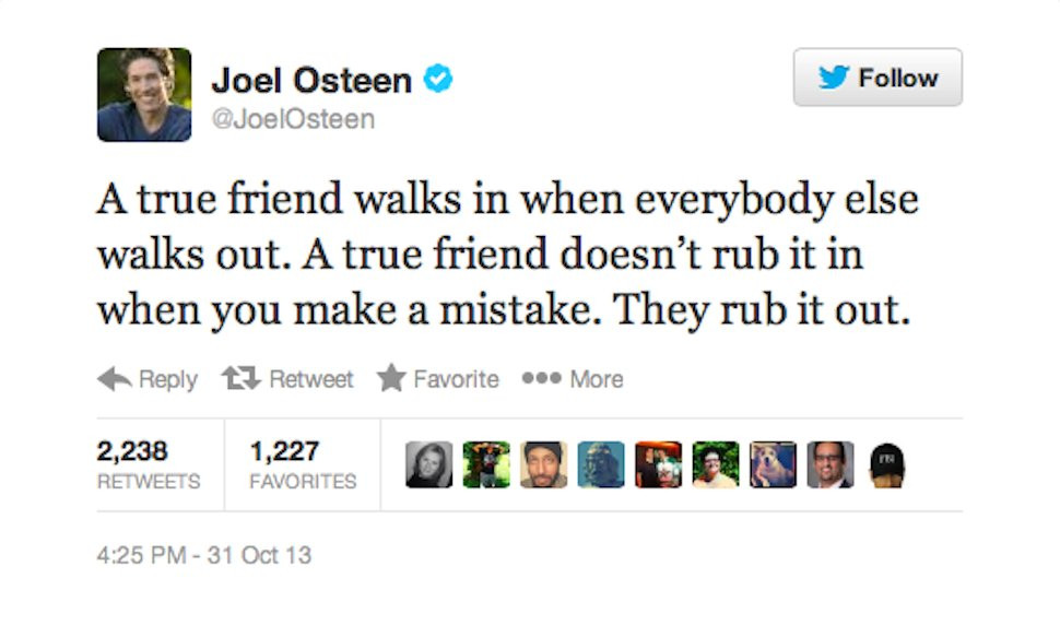 Motivational Quotes Twitter  Joel Osteen Tweets Something Really Really Really