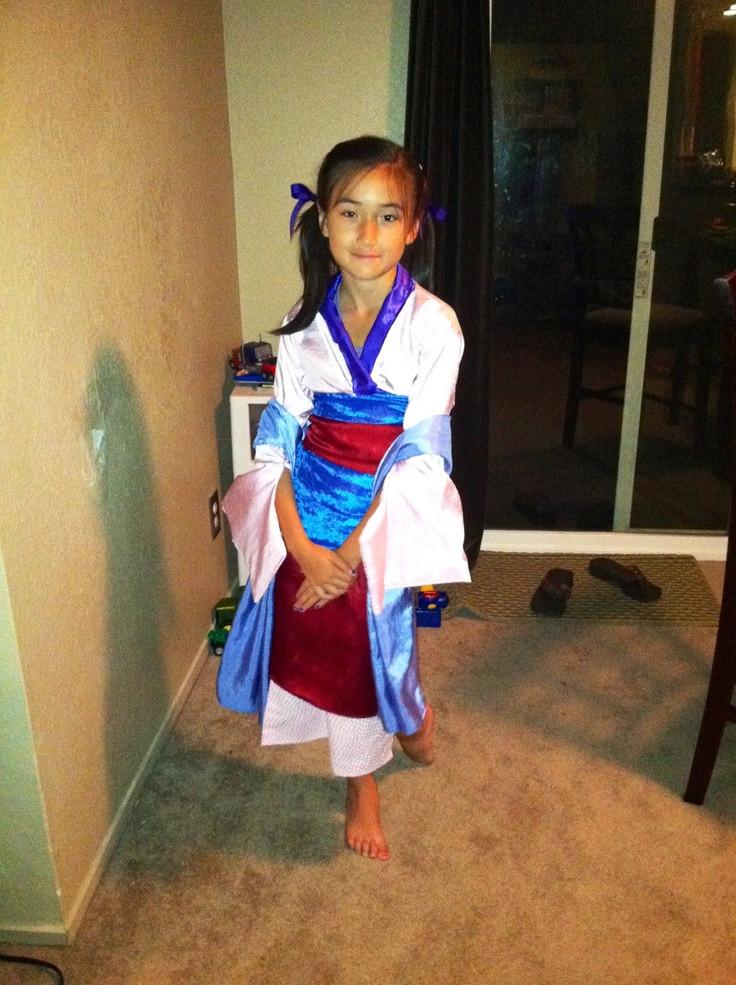 Mulan Costume DIY  Mulan costume Fall holidays