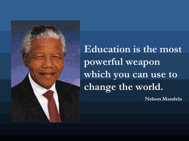 Nelson Mandela Quotes About Education  Mandela Famous Quotes Education QuotesGram