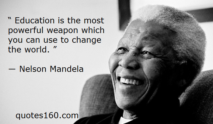 Nelson Mandela Quotes About Education  Quotes About Education Nelson Mandela QuotesGram