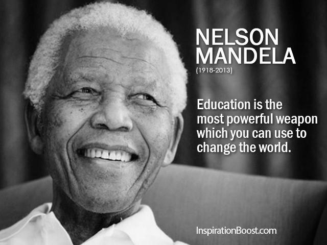 Nelson Mandela Quotes About Education  Nelson Mandela Education Quotes