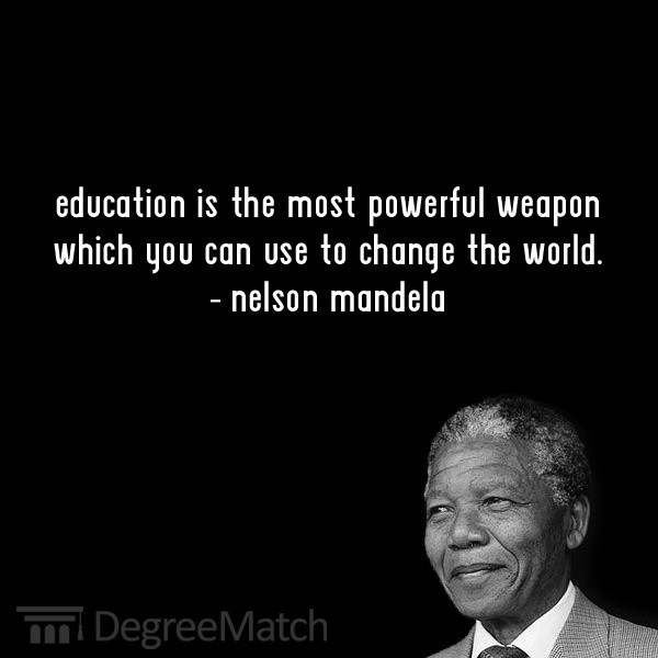 Nelson Mandela Quotes About Education  Nelson Mandela's life and achievements from birth to date