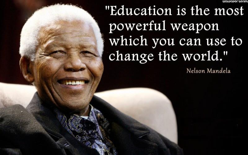 Nelson Mandela Quotes On Education  Nelson Mandela Quotes QuotesGram