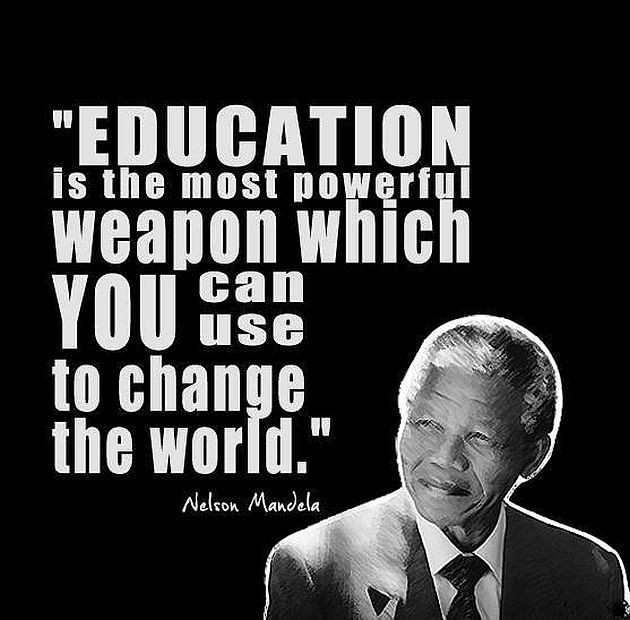 Nelson Mandela Quotes On Education  Powerful Education Quotes QuotesGram