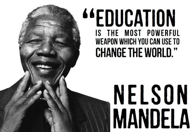 Nelson Mandela Quotes On Education  NELSON MANDELA QUOTES EDUCATION IS THE MOST POWERFUL