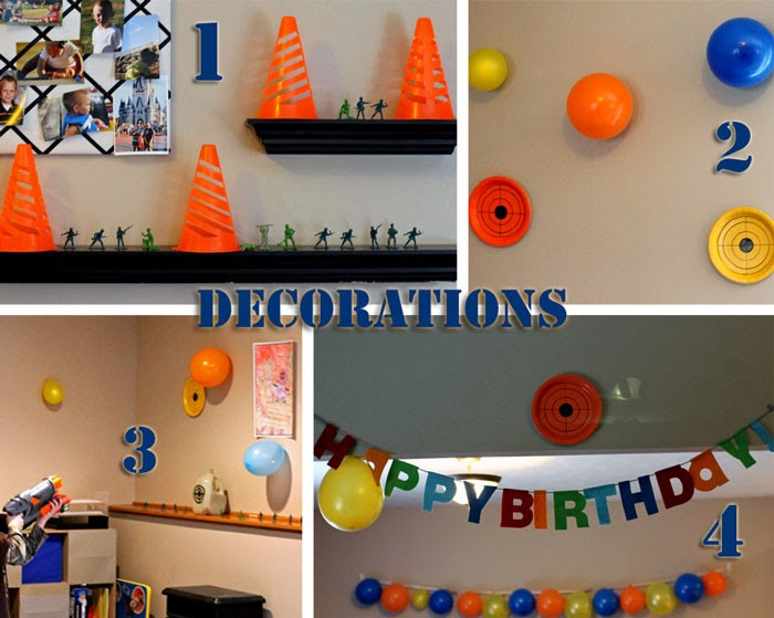 Nerf Birthday Party Decorations  Everything That I Need Nerf Wars Birthday party