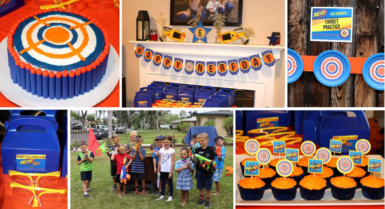 Nerf Birthday Party Decorations  Invite and Delight Nerf Gun Party