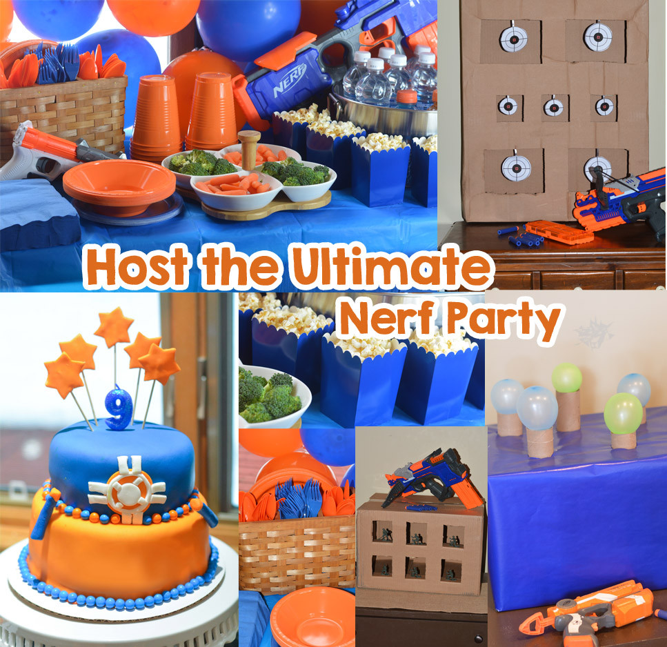 Nerf Birthday Party Decorations  Nerf Party Ideas Host the Ultimate Nerf Party Mommy s