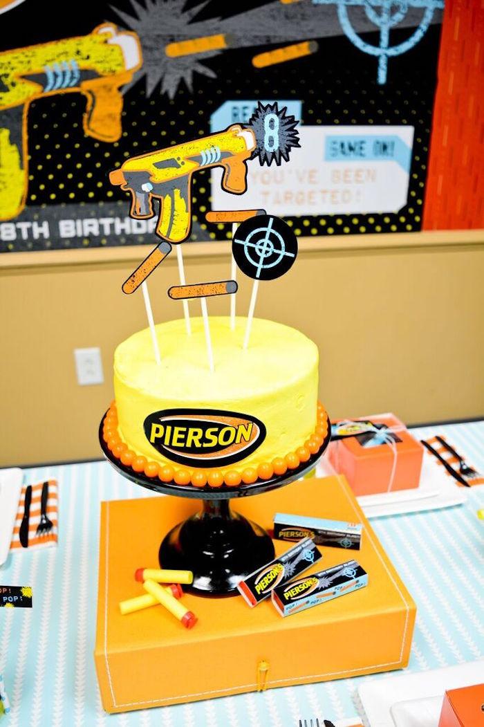 Nerf Birthday Party Decorations  Kara s Party Ideas Nerf Birthday Party