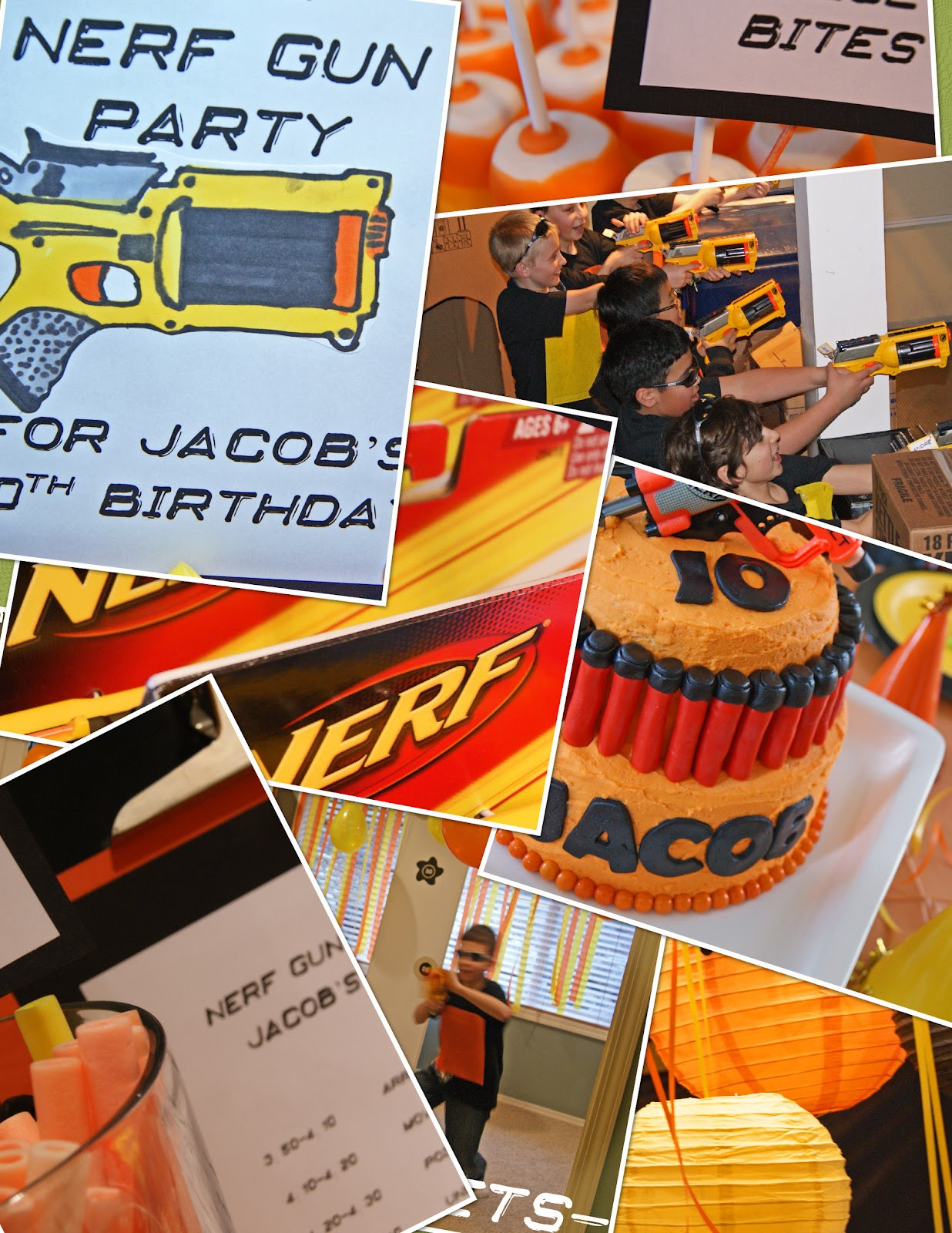 Nerf Birthday Party Decorations  michelle paige blogs Nerf Gun Party