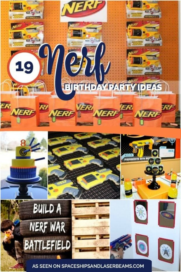 Nerf Birthday Party Decorations  19 Incredible Nerf Birthday Party Ideas Spaceships and
