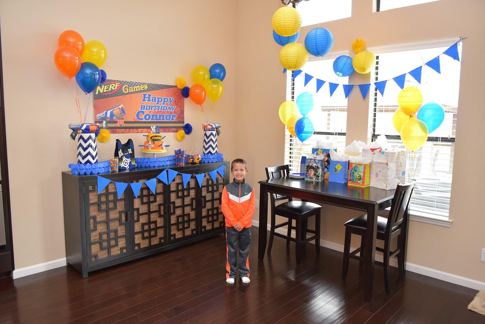Nerf Birthday Party Decorations  Vernon Volumes Connor s 8th Birthday party Nerf Party