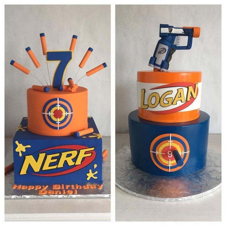 Nerf Birthday Party Decorations  Image result for nerf buttercream cake
