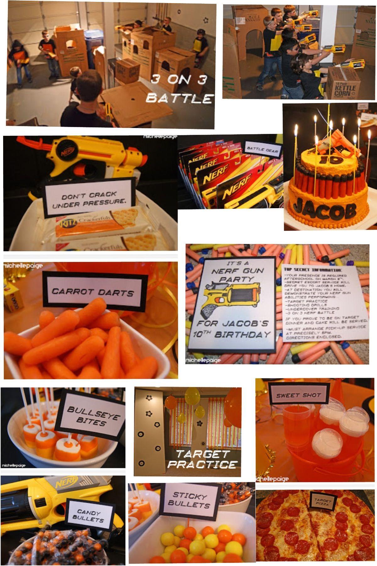Nerf Birthday Party Decorations  Nerf Birthday Party Boys Birthday parties