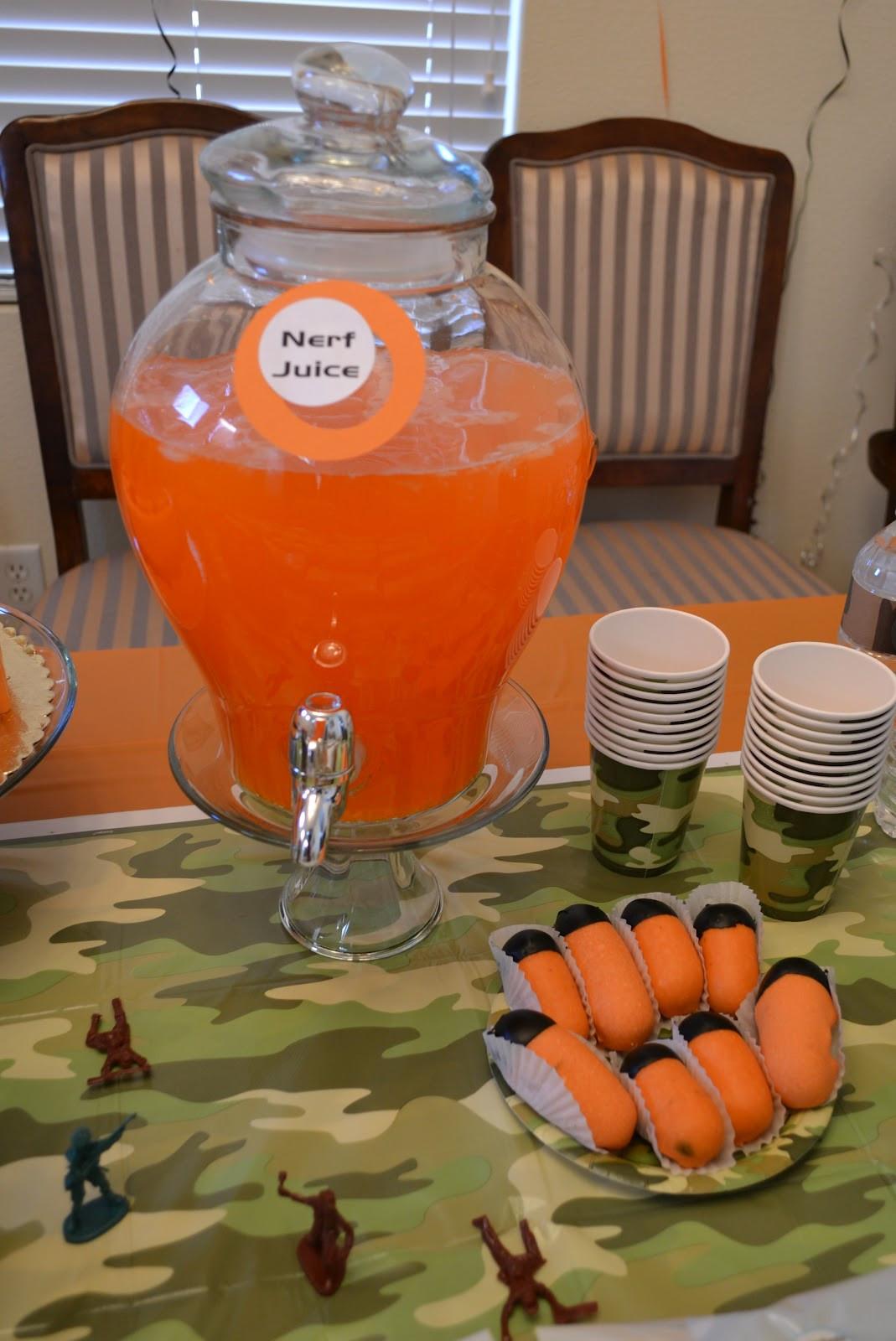 Nerf Birthday Party Decorations  Busy Miss B Nerf Birthday