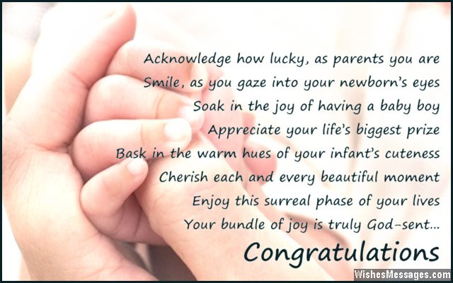 New Mother Quotes On New Baby  Congratulations for baby boy Poems for newborn baby boy