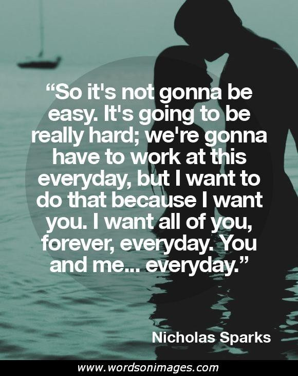 Nicholas Sparks Marriage Quotes  Quotes About Sparks QuotesGram