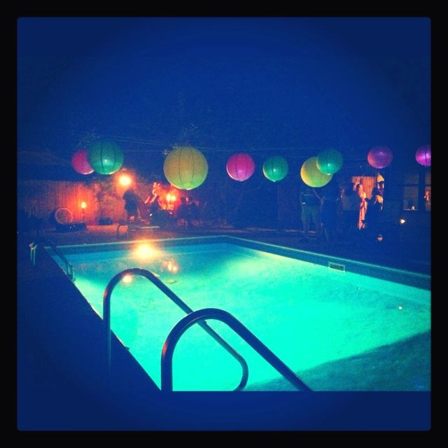 Night Pool Party Ideas For Adults  Pool Party Ideas Décor Food Pool Party